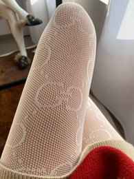 Sexy women tattoo deSignS online shopping - Women Sexy Lace Pantyhose English Letters Letter Tattoo Jacquard Tights Luxury Design Tights