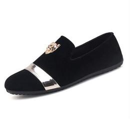 black velvet shoes 2019 - Men's Casual Shoes Fashion Gold Top and Metal Toe Men Velvet Dress shoes italian mens wedding Dress Handmade Loafer