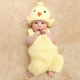 2pcs Set Newborn Baby Chick Costume Knit Crochet Romper Hat Photo Photography Prop Outfit Hot Sale With Free Shipping