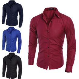 $enCountryForm.capitalKeyWord Australia - New Classic Blouse Shirt Men Long Sleeve Formal Business Office Shirts Men Fashion Casual Luxury Slim Shirts Plus Size L-3XL