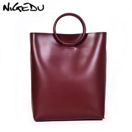Vintage Ladies Handbags NZ - NIGEDU vintage Luxury Handbag Women Bag Designer PU Leather Shoulder Bags for female Totes Large capacity ladies hand bags brwon