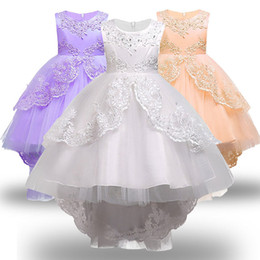 $enCountryForm.capitalKeyWord Australia - Girls Clothes Pearl Embroidery White Wedding Dress Children Christmas Clothing Kids Party Dress Baby Girls Princess Dress MX190725