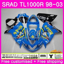 fairings srad Australia - Injection For SUZUKI SRAD TL 1000 R TL1000R 98 99 00 01 02 03 16HM.15 Hot RIZLA cyan TL1000 R TL 1000R 1998 1999 2000 2001 2002 2003 Fairing