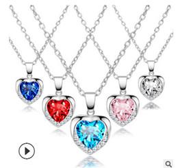 $enCountryForm.capitalKeyWord Australia - Popular jewelry creative heart necklace heart necklace crystal pendant necklace jewelry