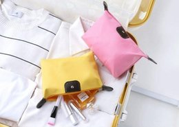 cute waterproof bag Australia - 10colors Waterproof wash bag Storage bag ingot type Cute dumpling cosmetic Candy fold