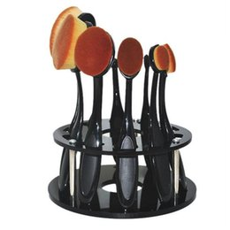 $enCountryForm.capitalKeyWord Australia - 2 Color 10 Hole Oval Makeup Brushes Holder Drying Rack Organizer No Make Up Brushes Cosmetic Shelf Tool For Women Girl To Choose
