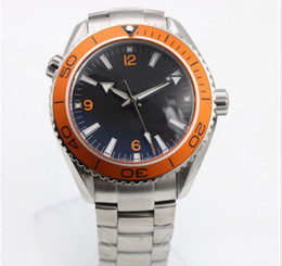 orange bezel Canada - 2019 Hot New high quality factory fashion master co-axial series orange rotating ceramic bezel automatic machinery man watches
