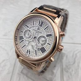 China New Luxury Dail Diameter 48mm Six-pin Running Seconds Sports Quartz Men's Chronograph Man Business PATEK Watches for Best Thday suppliers