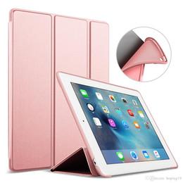 Vente en gros Haute qualité pour iPad Air 2 Air 1 affaire 2018 9.7 Funda Silicone dos souple 2017 PU en cuir Smart Cover Case pour iPad 2 3 4 cas