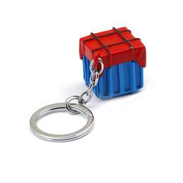 $enCountryForm.capitalKeyWord Australia - 2019 Hot Playerunknown's Battlegrounds PUBG Keychain Survival air drop Box Alloy Model Key chain Men Jewelry