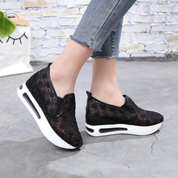 Wholesale Hot Sale-2019 New Women Casual Platform Shoes Shoes Wedges Women Sneakers Shoes Trainers Loafers Height Increasing