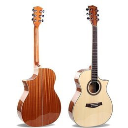 "Guitar Acoustic Tone NZ - 40"" Acoustic Guitar A-Grade Spruce Top,Folk Guitar, Mellow Tone"