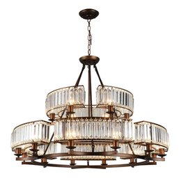 $enCountryForm.capitalKeyWord NZ - Modern round crystal LED Lamp double iron chandelier antique Suspension Light for Bedroom Living Room Home Lighting G829