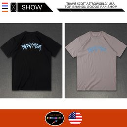 pop tees Australia - TRAVIS SCOTT T Shirts Streetwear ASTROWORLD Short Sleeve Tshirts ASTROWORLD Festival Pop Up Casual Short Sleeve Tops Tees Men Tshirts