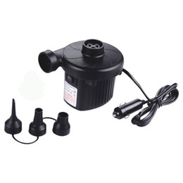 $enCountryForm.capitalKeyWord Australia - DC 12V Electric Air Pump For Air Bed, Mattress, Inflatable Boat, Pool, Sofa or Toy with Car Charger and Household AC 110V-220V