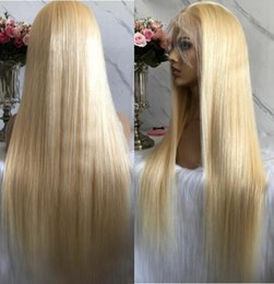 $enCountryForm.capitalKeyWord UK - Celebrity Wigs Lace Front Wig #613 Blonde Silky Straight 10A Grade Chinese Virgin Human Hair Full Lace Wigs for Woman Fast Free Shipping