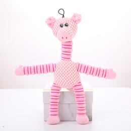 $enCountryForm.capitalKeyWord Australia - Foraway Dog Chew Toys 37.5cm 82g Plush Pig Bear Elephant Pink Green Brown Hot Selling Support Drop Shipping