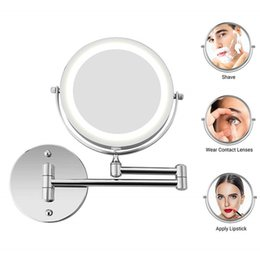 $enCountryForm.capitalKeyWord Australia - Bath Mirror Led Cosmetic Mirror 1X 3X Magnification Wall Mounted Adjustable Makeup Mirrors Dual Arm Extend 2-Face Bathroom Mirror