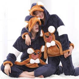 $enCountryForm.capitalKeyWord NZ - Korea style winter lovers home clothes men pajamas set soft warm unisex hooded sleeper sets 3D animal thick women sleepwear suit