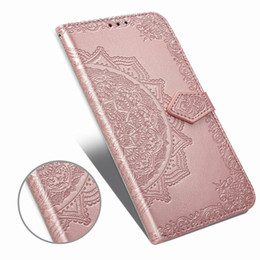 lg prime cases Australia - Imprint Flower Wallet Leather Case For Galaxy A90 A80 A20E Sony XZ4 Compact LG K50 Q60 Huawei P Smart Z Y9 Prime 2019 Slot Lace Flip Cover