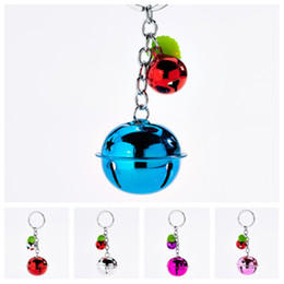 $enCountryForm.capitalKeyWord Australia - new Korean fashion cute candy color bell key ring couple color metal paint Keychains lady bag pendant children's toys Party Favor T2C5044