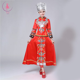 festival style clothing NZ - Hmong Clothes Chinese Folk Dance Embroidery Ethnic Style Adult Women Top Skirt Festival Outfit Performance Costume Miao Clothing
