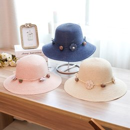 646f17c9 Designer Straw Hats Ladies Sun Beach Visors With Handmade Flower Garland  Foldable For Women UA Protection Bohemia Summer Hat