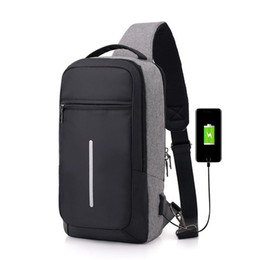 Charging Pack Australia - New designer Sport Outdoor Packs day packs men high quality waterproof chest bags shoulder cross body bags USB charge free shipping