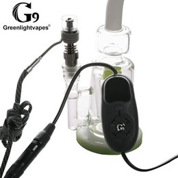 Electric Nail Water Australia - 100% G9 Electric Tick Enail Nail Dabber Temperature Control Box With Ti Nail Carb Cap Water Pipes Bong Wax Vaporizer