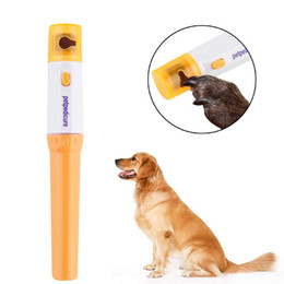 Wholesale dog groomed resale online - Pet Electric Nail Clipper Nail Polisher Accessories Cat Dog Pet Claw Nail Grooming Electric Grooming Kit Manicure Pet Tool