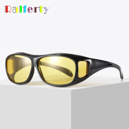 $enCountryForm.capitalKeyWord NZ - Ralferty HD Vision Wrap Arounds Night Vision Glasses Yellow Car Driving Glasses Men Women UV400 Protection Anti Glare Goggles