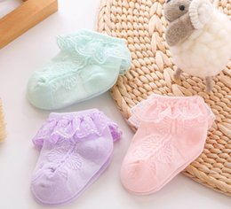 $enCountryForm.capitalKeyWord Australia - Baby socks sweet girls lace hollow crochet short socks kids lace gauze embroidery falbala princess socks toddler cotton sock F9113