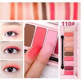 Cherry blossom free online shopping - HOLD LIVE Peach Matte Eye shadow Palette For Red Shadows Korean Makeup Brand Pink Cherry Blossom Glitter Eyes Shadows DHL free