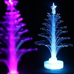 fiber optic night light lamp UK - Jueja Novelty Glowing Fiber Optic Christmas Tree Night Lamp Led Bottom Sticker Night Light for Children Romantic Home Decorative
