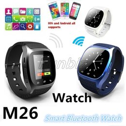 Smart Watch Altimeter Android Australia - Smart Bluetooth Watch Smartwatch M26 With LED Display Barometer Altimeter Music Player Pedometer for Android IOS Mobile Phone Retail Box