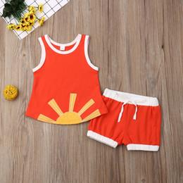 $enCountryForm.capitalKeyWord Australia - Infant Baby Boys Kid Brothers Sun Top Sling Vest Pants Shorts Sunsuit Clothes