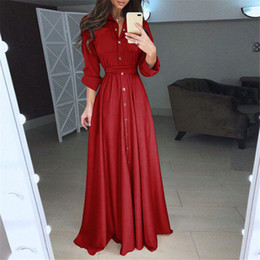 Products Red Australia - Fashion Product Explosions Hot Dress Long Skirt Solid Pink Red Black Blue Color Tie Waist Temperament Slim Slimming Long Skirt Women Dress
