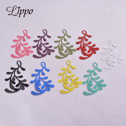 $enCountryForm.capitalKeyWord Australia - Cheap 30pcs AB2840 32*58mm Big Branch Charms Earrings Articles Findings Pendant Diy Jewelry Findings Charms