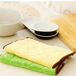 microfiber cloth rags 2019 - Wholesale-2Pcs lot Big Size Microfiber Cleaning Cloth Super Absorbent Home Kitchen Towels Wiping Dust Rags Clean Dish Cl