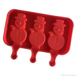 silicone dogs Canada - Silicone Ice Cream Mold Makers Red Silica Gel Mould Baby Dog Small Feet Homemade Popsicle Sticks Tools Snowman Torch Shape 8 5xw R