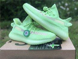 2019 Lançamento SPLY Boost 350s V2 GID Brilho No Escuro 1633yeezy Preto Originals Autêntico 3M 2688adidas Kanye West Homens Running Shoes EG5293 venda por atacado