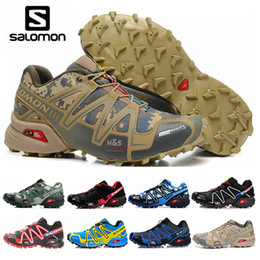 Cross boots online shopping - Salomon Speed Cross CS Mens Womens Running Shoes III Outdoor Shoes Black Green Red Trainer Mens Sport Sneakers