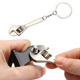 wrenches tool key chains Australia - Car Wrench Keychain Key Holder Keyring Simulation Keyfob Tools Stainless Steel Spanner Key chain Lovely Gift Auto Accessories
