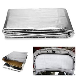 car defender 2019 - Car Hood Engine Firewall Heat Mat Defender Sound Foam Insulation Deadening Sound Proofing Foil Cover Auto Interior Acces