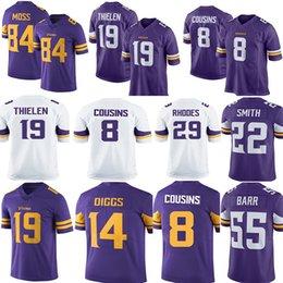 5a332eb10 8 Kirk Cousins 19 Adam Thielen Randy Moss Jersey Men Vikings Stefon Diggs  Harrison Smith Dalvin Cook Anthony Barr Football Jerseys