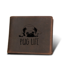 $enCountryForm.capitalKeyWord Australia - Genuine Leather Man Vintage Wallets Functional Multi Card Holders Zip Coin Pocket Short Purses PUG Life Men Cowhide Short Wallet