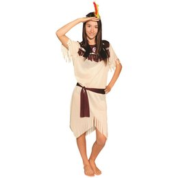 sexy indian clothing Australia - Sexy Indian Woman Costumes Savage Cosplay Carnival Stone Age Halloween Flintstone African Tribal Hunter Clothing