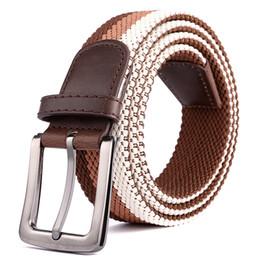 $enCountryForm.capitalKeyWord Australia - D006 Design belt high quality canvas mens belt yellow black white homme belts ladies brand waistband 200 cm free shipping