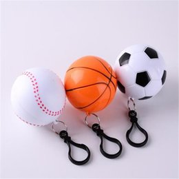 plastic ball chain Australia - Football Basketball Baseball Spherical Raincoat Plastic Ball Key Chain Disposable Portable Raincoats Rain Covers Travel Tour Trip Rain Coat