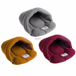 Cute Small Dog Houses Australia - Pet Cat House Soft Warm Winter Dog Cat Bed Flip Flop Cave Dog House Cute Kennel Nest Fleece Bed YX#